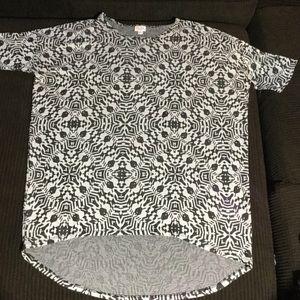 Women's Lularoe Tunic Shirt Size Med black/ white